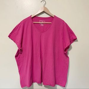 Just my size essential pink tee, plus size 4x